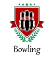 Bowling symbol for sporting deseign vector image vector image