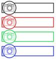 camera banner set vector image vector image