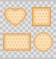 cartoon biscuit eating pastry breakfast cookies vector image vector image