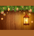 christmas and new year design with christmas vector image vector image