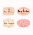 christmas oval emblem label pink beige pastel vector image vector image