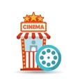 cinema movie ticket office film reel graphic vector image vector image