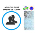 clients rounded icon with set vector image vector image