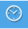 Clock icon flat design with shadow vector image vector image