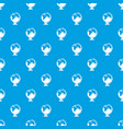 closed book pattern seamless blue vector image vector image