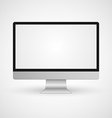 Computer monitor display isolated vector image vector image