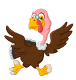 Cute turkey running vector image vector image