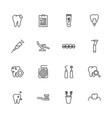 dental - flat icons vector image vector image