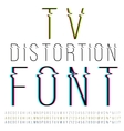 Distortion font vector image vector image