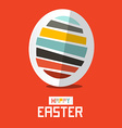 Easter Paper Egg on Red Background vector image vector image
