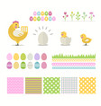 easter set isolated on a white background vector image vector image