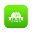 eco berries icon green vector image vector image