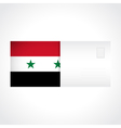 Envelope with Syrian flag card vector image vector image
