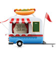 fast food hot dog trailer vector image vector image