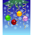 Festive winter background vector image vector image