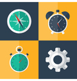 flat business icons set orange and blue vector image vector image