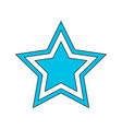 flat style retro star icon vector image