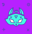 fox head with various mystic signs vector image