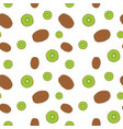 fruits kiwi seamless patterns vector image vector image