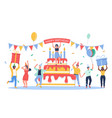 group business people celebrating happy vector image
