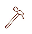 Hand Drawn Hammer vector image vector image