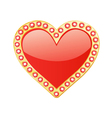 Heart With Gems vector image
