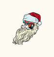 isolated car santa claus christmas character vector image vector image