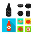 isolated object vegetable and delicious symbol vector image vector image