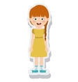 little girl avatar isolated vector image