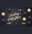 merry christmas golden calligraphy lettering vector image