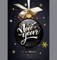 new year card with golden confetti holiday card vector image vector image