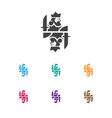 of gambling symbol on king vector image vector image