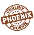 phoenix brown grunge round vintage rubber stamp vector image vector image
