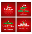 red christmas card sets vector image