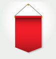 red pennant template hanging on wall vector image