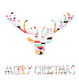 Reindeer Christmas Card vector image vector image