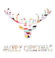 Reindeer Christmas Card vector image vector image