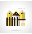 Residential area abstract flat icon vector image vector image