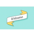 Ribbon banner with text Welcome vector image vector image