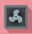 rotor blade fan icon flat style vector image vector image