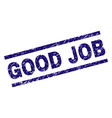 scratched textured good job stamp seal vector image