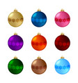 set christmas balls 01 vector image vector image