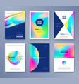 set of abstract cover design vector image