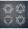 Set of outline monogram 06 vector image vector image