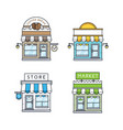 set of store buildings vector image vector image