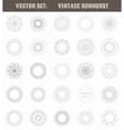 Set of vintage sunburst Geometric shapes and light vector image