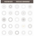 set vintage sunburst geometric shapes and light vector image vector image