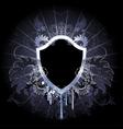 silver shield vector image vector image