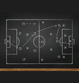 soccer play tactics strategy vector image