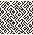 stylish lines lattice ethnic monochrome texture vector image vector image